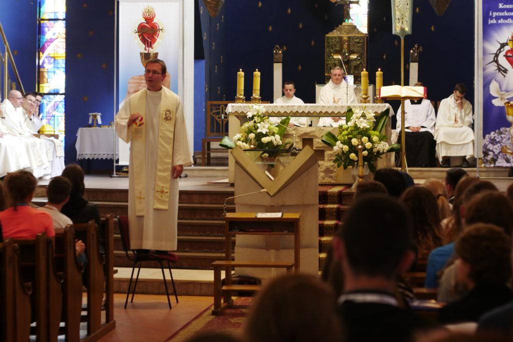Kazanie Ojca duchownego - księdza Piotra Maćkowiaka CM